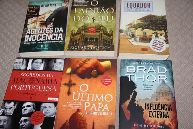 6 livros - maçonaria, equador, o último papa