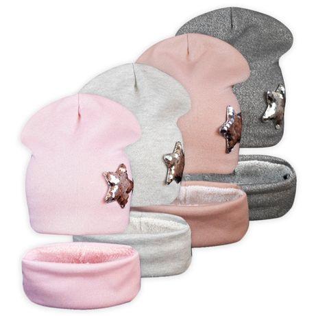 Комплект шапка с хомутом на махре Стар ог. 53-55см м