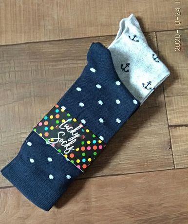 Носки котоновые шкаретки чоловічі 41-44р мужские горох якоря стильные
