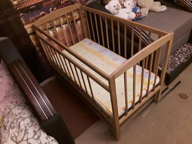 Дитяче ліжечко з Бука, маятниковий механізм, матрац