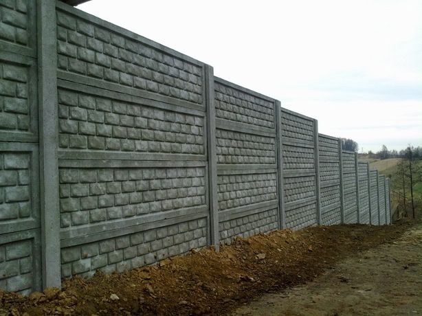 Ogrodzenia płyty betonowe