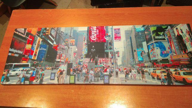 Obraz Time Square 90x30 cm