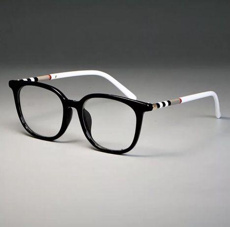 Okulary oprawki kolory burberry korekcyjne zerówki szkła czarne