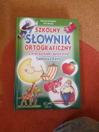 Szkolny słownik ortograficzny z wierszykami Tadeusza Rawy