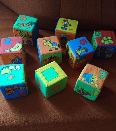 Мягкие развивающие кубики, 9 шт