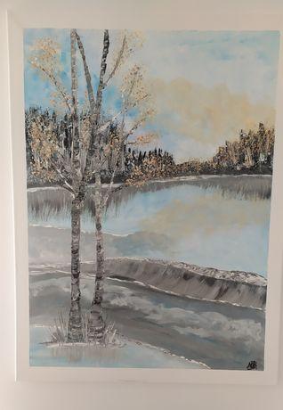 Obraz ręcznie malowany na płótnie akrylami 60/80