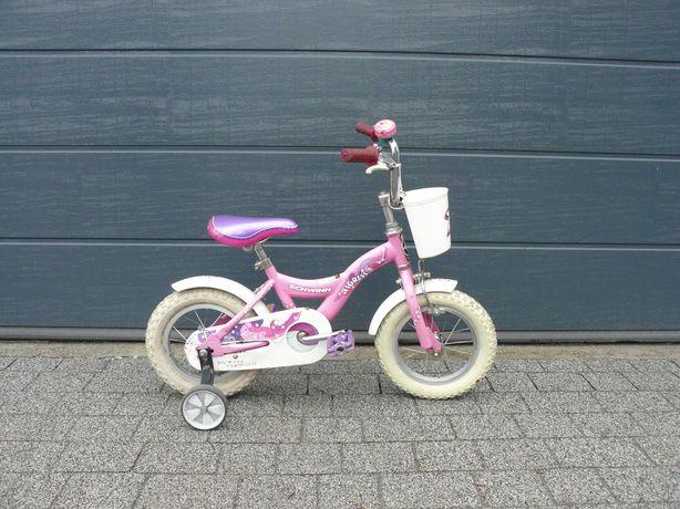 """Rower rowerek dla dziewczynki dziewczęcy koła 12"""" Schwinn różowy"""