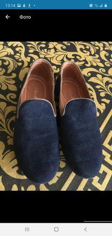 Туфли размер 39, 40 мокасины мужские кожа