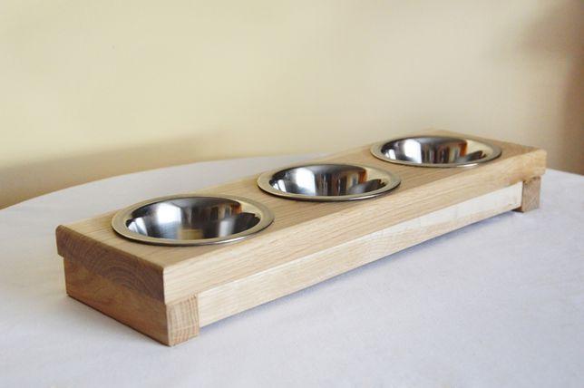Stojak na miski dla psa lub kota