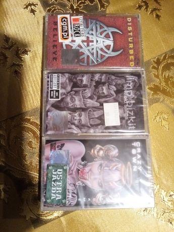 Kasety Nu metal Disturbed, Crazy Town, Limp Bizkit nowe w folii.