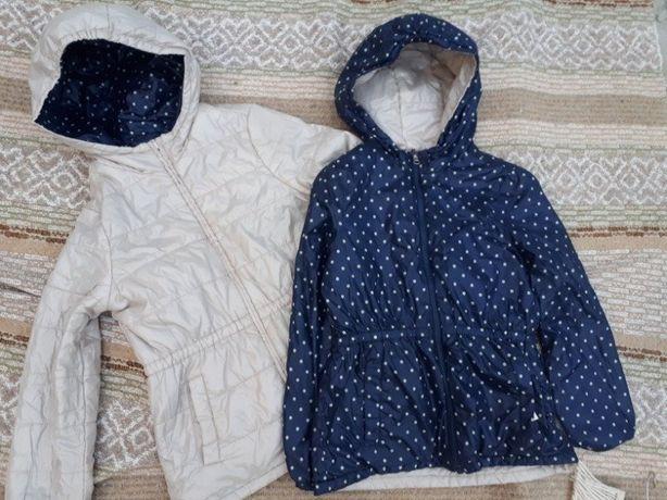 Утепленная двухсторонняя куртка девочке/ Benetton/Италия/р.130(7-8лет