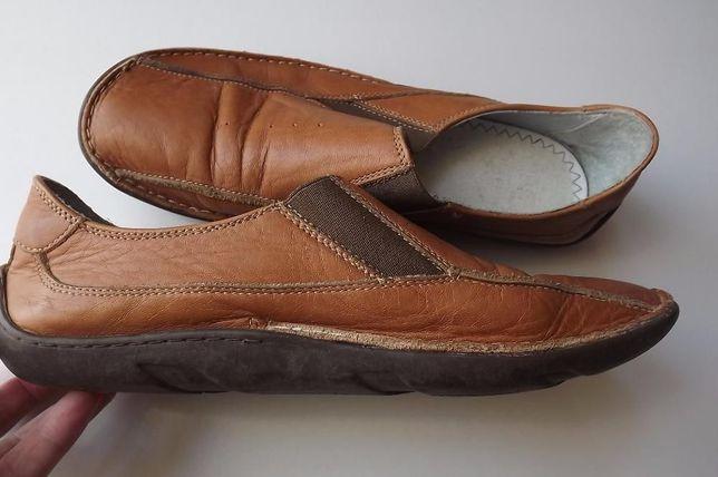 piękne karmelkowe skórzane buciki vagabond 40/25 cm