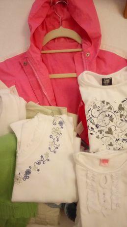kurtka, bluzki, sweterki, bluzy,110 -116, megapaka-3 warianty rozmiar.