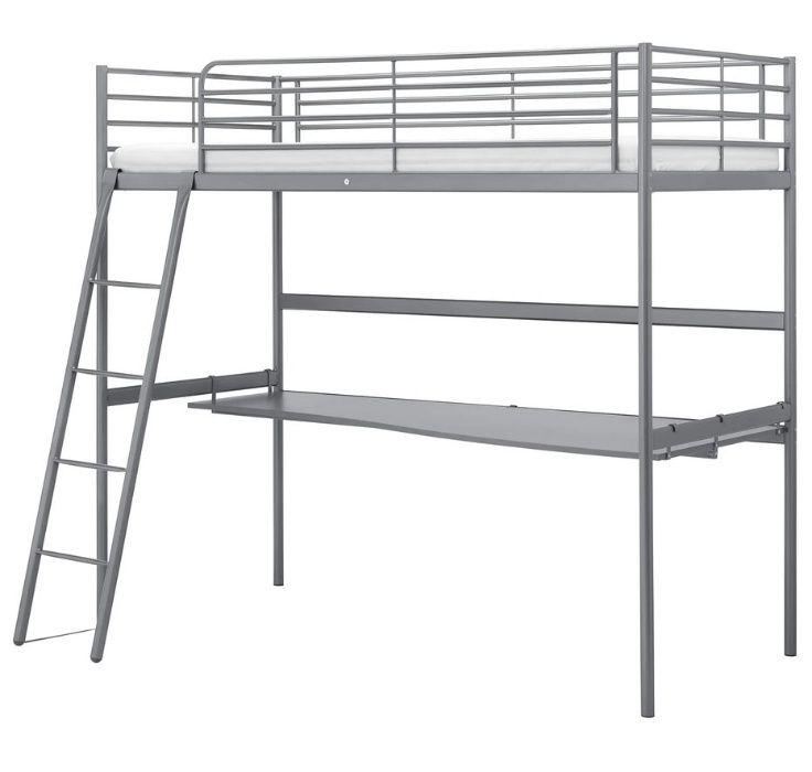 Łóżko piętrowe/antresola z biurkiem IKEA Kościan - image 1