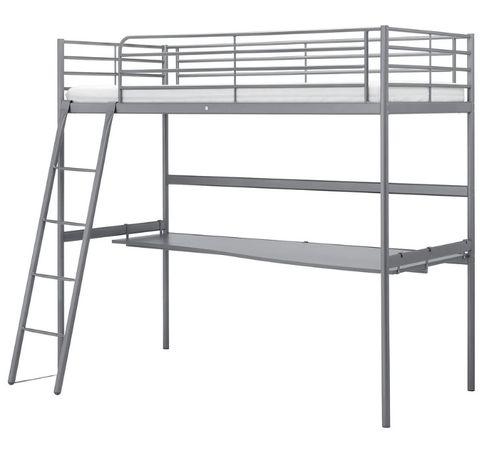 Łóżko piętrowe/antresola z biurkiem IKEA