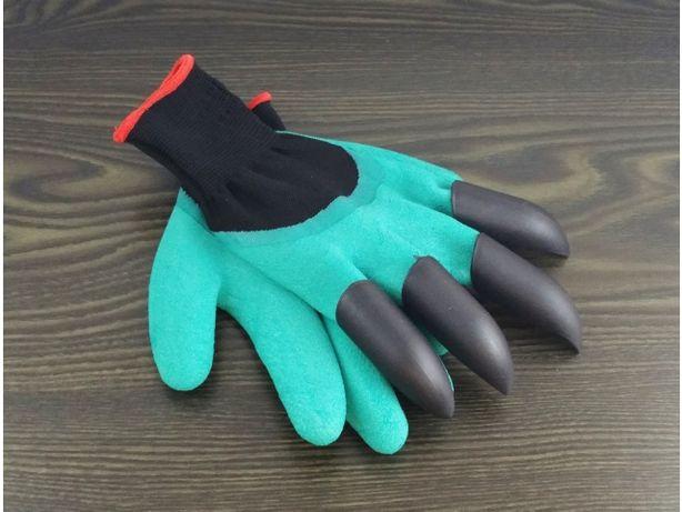Rękawice rękawiczki ogrodowe pazury grabie