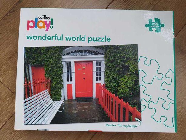 Puzzle NOWE, 1000 elementów, drzwi do domu, podwórko, wejście