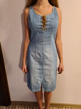 Sukienka dżinsowa jeansowa letnia niebieska roz. S M