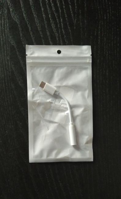 Cabo com ficha USB-C para fêmea 3,5 mm (áudio), novo