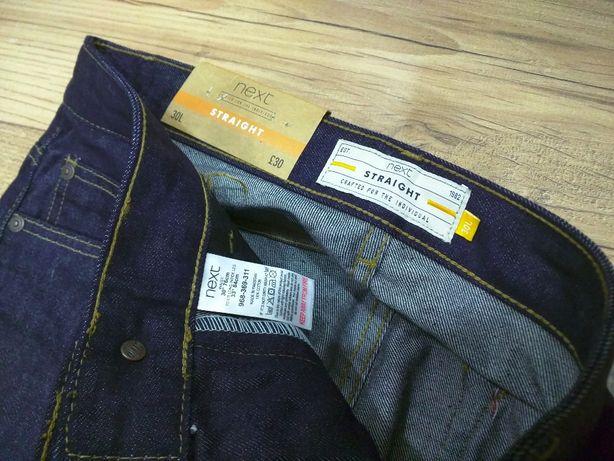 NEXT spodnie męskie denim jeansy proste W30 L34 30/34