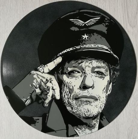 Zé Pedro pintura original sobre disco de vinil