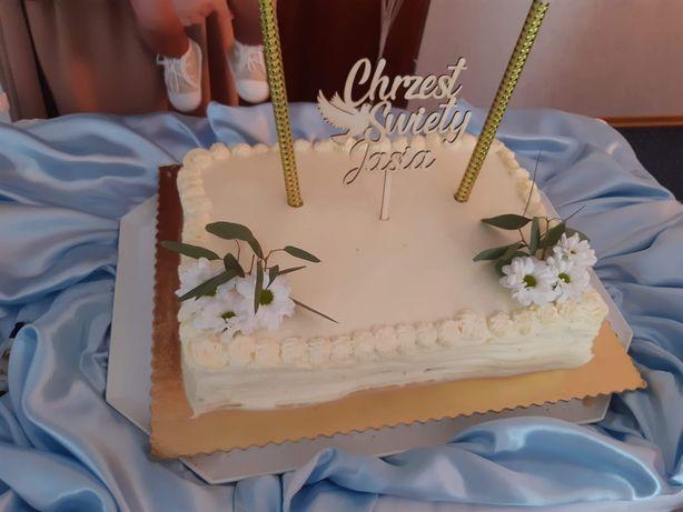 Topper na tort chrzciny