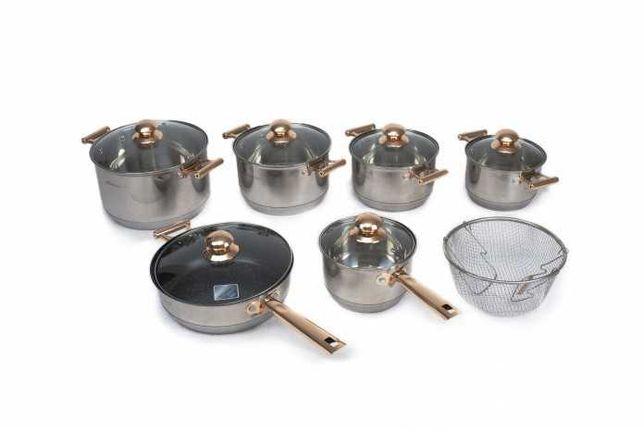 Сковородка кастрюли Goldteller на 13 предметов, Ковш набор посуды
