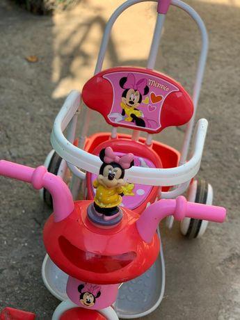 Детский велосипед с ручкой для мамы