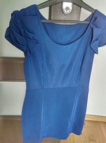 Sukienka niebieska granatowa M