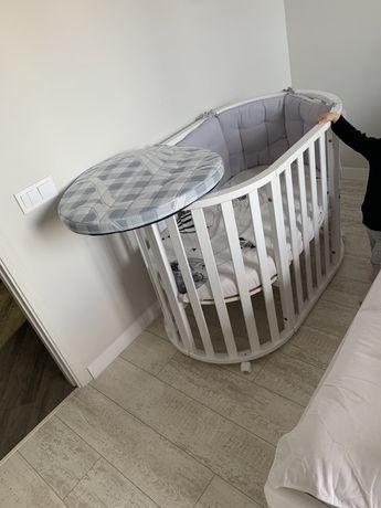 Кроватка трансформер деревянная экокраска 7 в 1 типо stokke