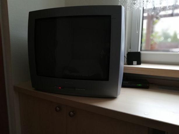 Telewizor PHILIPS 21 cali z dekoderem jeden pilot do TV i dekodera