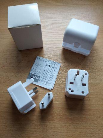 Adapter zestaw podróżny przejściówka do prądu na cały świat