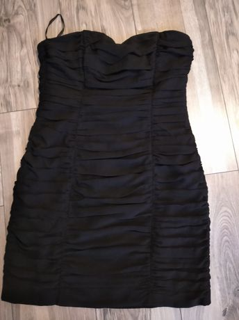 Czarna mini sukienka h&m