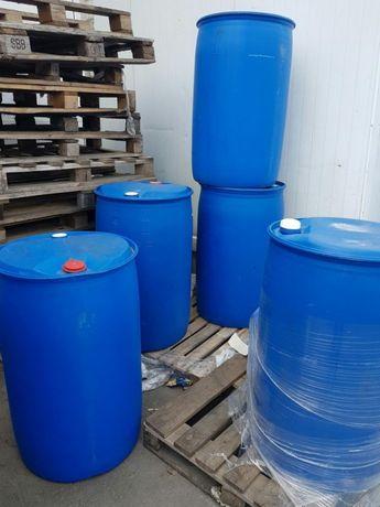 Бочка синя пластмасова пластикова пластиковые бочки товстостінна