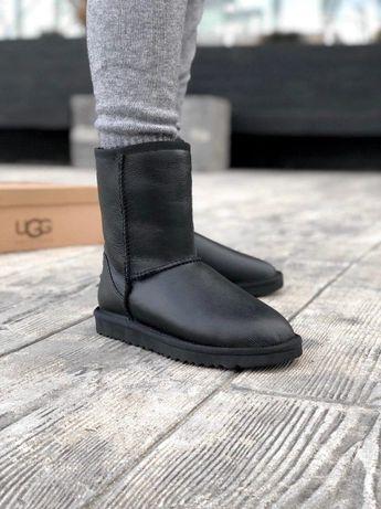 Мужские UGG/Угги/Уги/Угг Australia Classic Black (Кожа 100% Овчина)