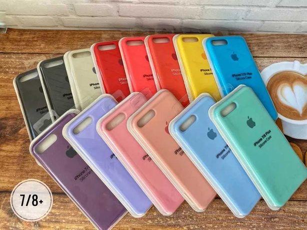 Силиконовый Чехол Кейс Apple Silicone Case Айфон iPhone 8 Plus Плюс