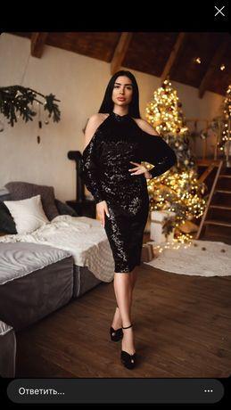 Обалденное коктейльное платье размер л-хл