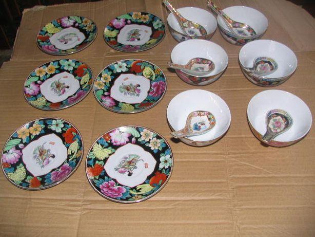 Ceramika porcelana łyżeczki miska talerzyk - NOWE - KOMPLET