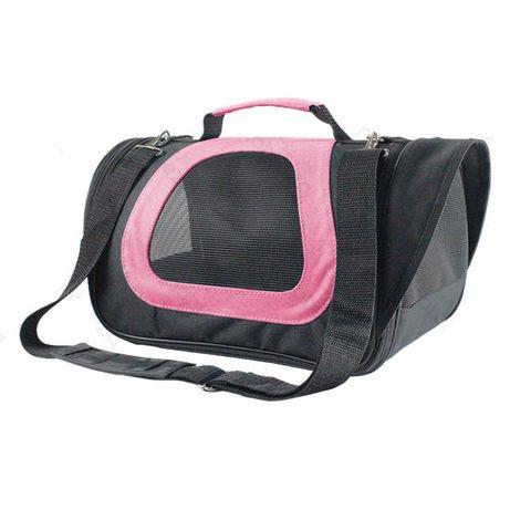 Mala de transporte para animais rosa M 40 X 23 X 24 cm