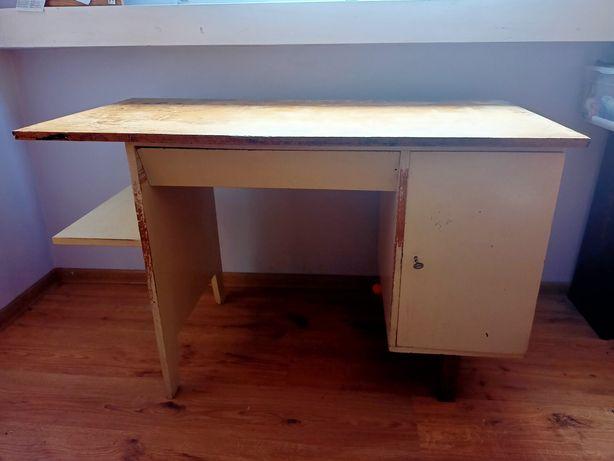 Drewniane biurko Puchała PRL retro vintage