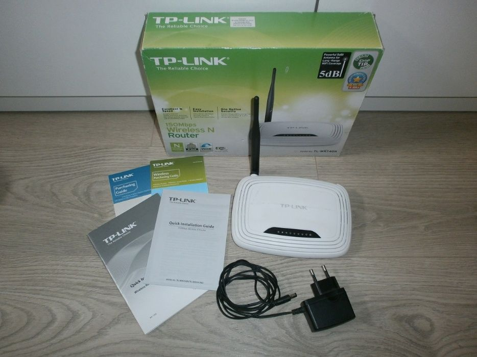 Router Tp-Link TL-WR740N wifi 150Mbps antena 5dBi Zabierzów - image 1