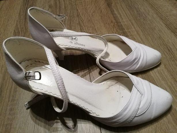 Buty ślubne białe r.35