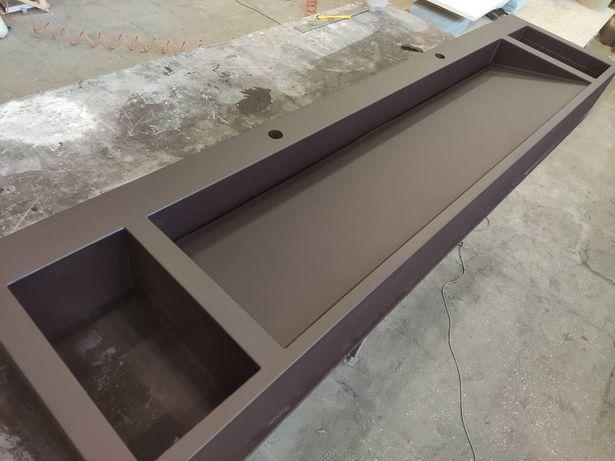 Бетонный умывальник раковина столешница барная стойка из бетона кашпо