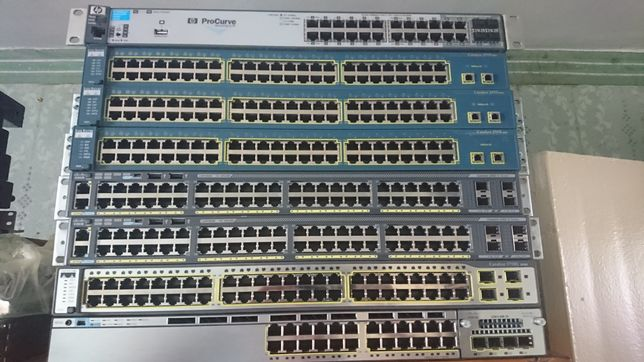 Коммутаторы HP, Cisco 2950SX, 2960X, 3750G, 3750X, Cisco ASA