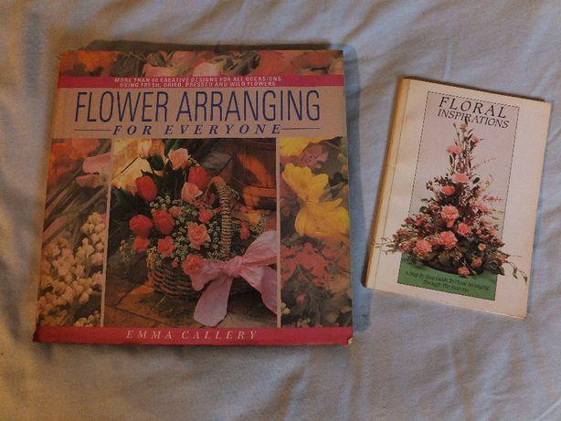 Książki ''Flower Arranging For Everyone'' i ''Floral Inspirations''