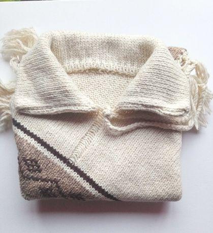 Poncho em lã natural novo