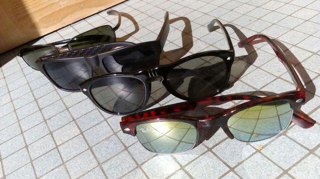 coleção de óculos sol como novos