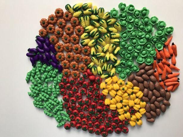 Мини Овощи и Фрукты с полимерной глины