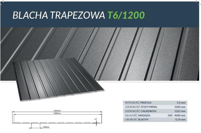 Blacha Trapezowa T6 w powłoce mat