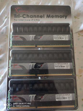 Memórias RAM G.skill ttseries DDR3 2gbx3 1600hrz